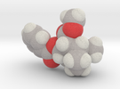 Cocaine molecule (x40,000,000, 1A = 4mm) in Full Color Sandstone