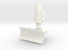 1:7 Scale Starboard Side Weapons Mount  in White Strong & Flexible Polished