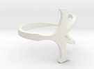 Open Ankh Ring Ring Size 10 in White Strong & Flexible