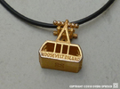 New Roosevelt Island Tram - Pendant in Polished Gold Steel