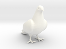 Bird No 2 (Dove) in White Strong & Flexible Polished