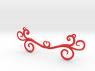 Wind Curls Heart Pendant in Red Strong & Flexible Polished