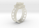 Rollercoaster Ring in Transparent Acrylic
