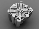 Crossroads Ring - Size 11 (20.68 mm) in Polished Silver