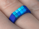8-bit ring (US6/⌀16.5mm) in Blue Strong & Flexible Polished
