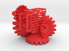 Red Gears & Tiles for the Multi-Gear Cube Kit  in Red Strong & Flexible Polished