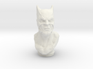 Dark Knight Bust (4.0in - 10.2cm) in White Strong & Flexible