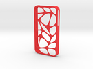 iPhone 4/4s ORGANIC in Red Strong & Flexible Polished