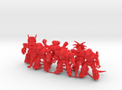 MiniCreatures: Six Pack 1 in Red Strong & Flexible Polished