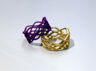 Skaters Ring in Polished Gold Steel
