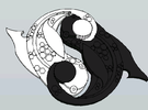 Ying Yang Fish Set in White Strong & Flexible