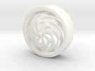 VORTEX4-30mm in White Strong & Flexible Polished