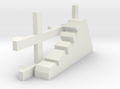 1-87 Scale Dragon Teeth Road Barrier (need 2) in White Strong & Flexible
