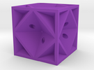 Dice42 in Purple Strong & Flexible Polished