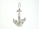Art Anchor in Polished Silver