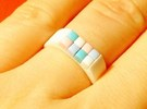 8-bit ring (US6/�16.5mm) in White Strong & Flexible Polished