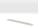 Track 124 mm with guard rails in White Strong & Flexible