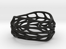 Panel Twist Full Hollow Ring 06 Sz 6 in Black Strong & Flexible