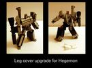 Hegemon Leg Covers  V1 in White Strong & Flexible