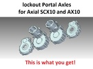 Portal Axle - Axial AX10, SCX10, lockout in White Strong & Flexible