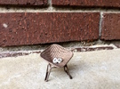 Diamond Wire Mesh Chair (1:24 Scale) in Stainless Steel