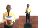 Gus Fring with Meth Bucket in Full Color Sandstone