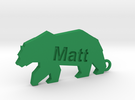 Keychain for Matt in Green Strong & Flexible Polished
