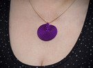 Classical Labyrinth Pendant in Sandstone
