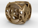 Dice149 in Polished Gold Steel