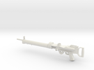 1/4th Lewis Machine Gun (without drum mag!) in White Strong & Flexible