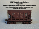CNW Ore Car Two Pack, N Scale in Frosted Ultra Detail