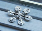 "Snowflake Pendant (1.7"" tip to tip) in Polished Silver"