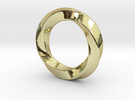 Pendant Ring Whirl in 18K Gold Plated
