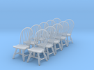 1:48 Windsor Hoop Back Chair (Set of 10) in Frosted Ultra Detail