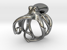 Octopus Ring 16mm in Polished Silver