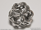 Icosahedral Knot thick in Stainless Steel