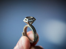 Diamond Ring US 7 3/4 in Polished Nickel Steel
