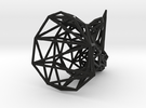 Rhino head wireframe in Black Strong & Flexible