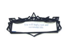 Fortune Cookie Frame  in Black Strong & Flexible