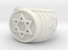 Jewish Ring in White Strong & Flexible