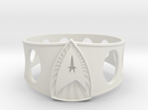 Star Trek Ring size 13 in White Strong & Flexible