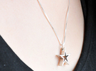 Star Pendant Necklace (JN0149_STRPD) in Polished Silver