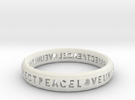 PLUR bangle in White Strong & Flexible