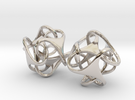 Tetron earrings in Rhodium Plated