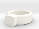 Toy Jewelry Ring Band in White Strong & Flexible Polished