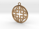 Celtic Pendant 4  in Polished Brass