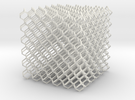 Microstructures: Diamond 5mm cell in White Strong & Flexible
