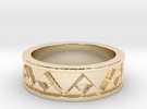 Triforce Ring in 14k Gold Plated