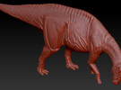 1/72 Parasaurolophus - Grazing in White Strong & Flexible
