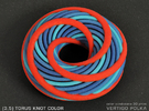 Torus Knot color - 3inch in Full Color Sandstone